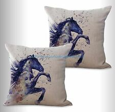 US SELLER-2pcs equine horse equestrian cushion cover throw pillow covers