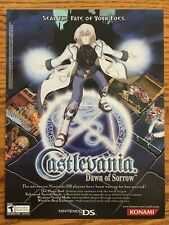 Castlevania: Dawn of Sorrow Nintendo DS 2005 Vintage Game Poster Ad Print Art