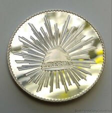 Rare Beautiful Deep Mirror Proof Viva Mexico 1 Troy Oz .999 Pure Silver Round
