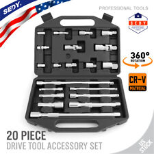 """20 Extension Bar Set 1/4"""" 3/8"""" 1/2"""" Drive Socket Wrench Universal Joint Adaptor"""