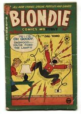 BLONDIE COMICS #39 1950 CHIC YOUNG-Electrocution cover