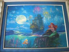 Disney Little Mermaid Ariel Part of the World James Coleman LE 95 Oil Giclee