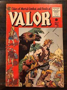 VALOR #5 EC RARE VINTAGE GOLDEN AGE 4.5 VG+ 1950'S WOOD ART LAST ISSUE A6-314