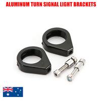 2x 39mm Black Harley Davidson fork mount Turn Signal Relocation Brackets 1 pair