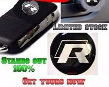 VW Rline Key Fob Remote Badge LOGO 14MM GOLF R32 IBIZA POLO GTI RS SEAT PASSAT