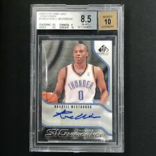 2009-10 SP Game Used RUSSELL WESTBROOK Signifinace Auto BGS 8.5/10