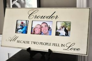 Personalized Family Name Sign/Picture Frame