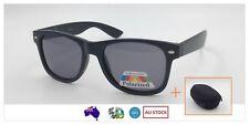 Polarised Men Women Fashion Sunglasses Black + Free Hard Case