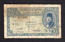 F.C. EGIPTO EGYPT , 10 PIASTRES 1940 , B/C- ( FINE- ) MANCHADO , P.168a .