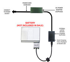 External Laptop Battery Charger for Apple MacBook Pro 15in, A1150, A1175, MA348