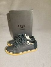 UGG Brock Luxe Black Gum Leather Comfort Sneakers Shoes Mens US Size 9