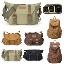 DSLR Women Men Camera Bag Canvas Backpack Shoulder Messenger For Canon EOS Nikon