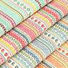 Cotton Fabric per FQ Retro Floral Vine Lace Stripe Dress Quilt LuckyFabrics VS10