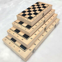 39cm Large FOLDING WOODEN CHESS SET Board Game Checkers Backgammon Draughts Toys