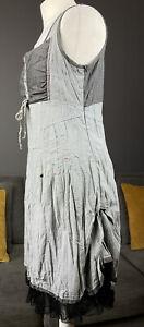 Joe Browns Grey Mix Corset A Line Cotton Blend Womens Uk 12 Dress Vgc #
