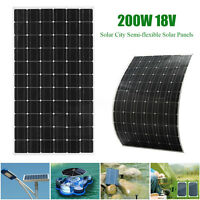 Elfeland 200W 18V A-Class Semi-flexible Solar Panel Battery Charger For RV Boat