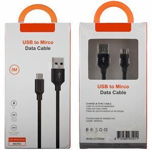 Micro USB Kabel Ladekabel Datenkabel Android 3m 300cm XSS-BRAIDED3M