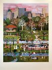 """Jane Wooster Scott Signed & Numbered L/ED Lithograph """"Spring Time In Central """""""