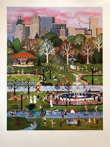 "Jane Wooster Scott Signed & Numbered L/ED Lithograph ""Spring Time In Central """