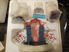 Tim Burton Nightmare Before Christmas Cemetery Gate, Zero, Mayor's Car, Tree NEW