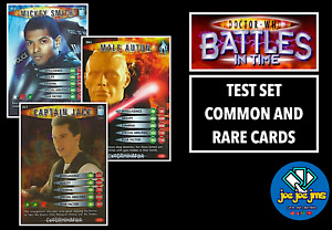 Dr Doctor Who Battles in Time TEST SET COMMON AND RARE Cards - RESTOCKED