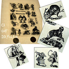 Clear stamp set Alice in wonderland