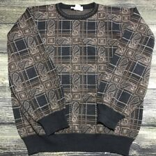 Tricots St Raphael New Wool Sweater Crewneck Sz  M Paisley 210.171