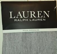 Ralph Lauren PATTERSON Gray Silver Two Back Tab Panels 50 x 90 in. NEW