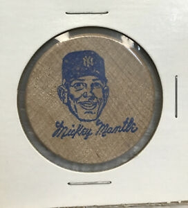 Mickey Mantle Rain Check Wooden Wood Coin Collectible