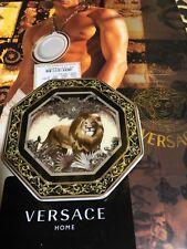 "VERSACE LION MEDUSA COASTER Plate Greek key Animal 4"" Rosenthal NEW in box rare"