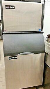 2018 Ice-O-Matic Air Cooled Ice Machine 1000lbs. Half Cube with Bin,  ICE1006HA8