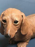 1984 Sandicast - 10.75 inch figurine - Dachshund - Wiener Dog By Sandra Brue
