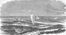 UKRAINE. Sevastopol during the Siege, antique print, 1854