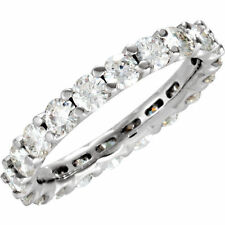 Moissanite Round Brilliant Cut Eternity Wedding Band Ring 14k Size 7