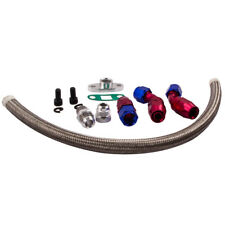 10AN Turbo Steel Oil Drain Return Line Kit for T3 T4 T04E T70 T60 T61 AN10 New