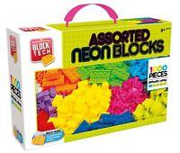 1000 Pieces Block Tech Neon Assorted Building Blocks Bricks Compatible with Lego