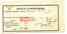 K238-LOMB.VENETO-RICEVUTA D'IMPOSTAZIONE MILANO 1851