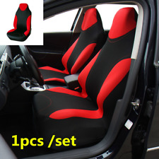 Red 1pcs Car Front Seat Cover Cushion Polyester Fabric For Interior Accessories