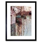 Egon Schiele Sailboats In Wellenbewegtem Water The Port Trieste Framed Wall Art