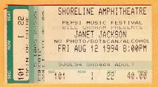 8/12/94 JANET JACKSON Concert Ticket Stub
