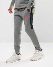 Nike Men's Air Jogger Carbon Heather/Siren Sweatpants 861626 091 Size X-Small