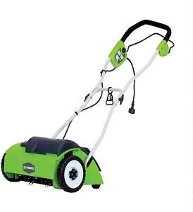 Electric Lawn Dethatcher 14in Garden Grass Root Power Tool Corded 10Amp Motor
