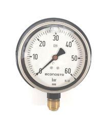 """WIKA Econosto Manometer, Glycerin, 0-60 bar, Ø 100 mm, senkrecht G 1/2"""""""