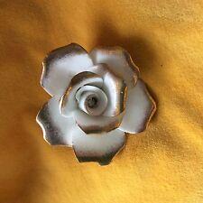 Ceramic White & Gold Brooche