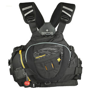 Stohlquist Descent Rescue Life Jacket - Black - Small/Medium Without Tags NEW