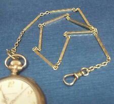"Vintage 14k Gold Fancy  Bar Links Pocket Watch Vast Chain 14.5 "" Long 15.4 grams"