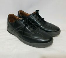 Clarks Unstructured Black Leather Mens Casual Oxford Sneakers Shoes Size 12