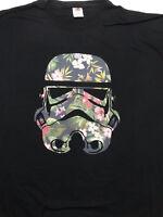 Star Wars Tropical Stormtrooper Black T-Shirt