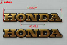 Gold Metal Emblem Gas Tank Badges 2x for Honda Super Sport CB CB550 CB650 CB750