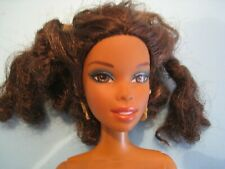 "poupée Mattel ""Barbie's friend"" cheveux brun frisé lot N°242"